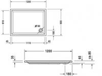 Поддон прямоугольный Duravit Starck 720017