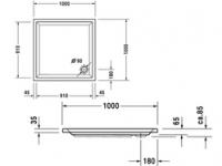Поддон квадратный Duravit Starck 720011