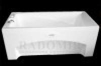 Ванна акриловая с гидромассажем Radomir Радомир Рино стандарт Chrome 16075