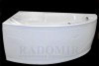 Ванна акриловая с гидромассажем Radomir Радомир Лоуэль стандарт chrome левая 168120
